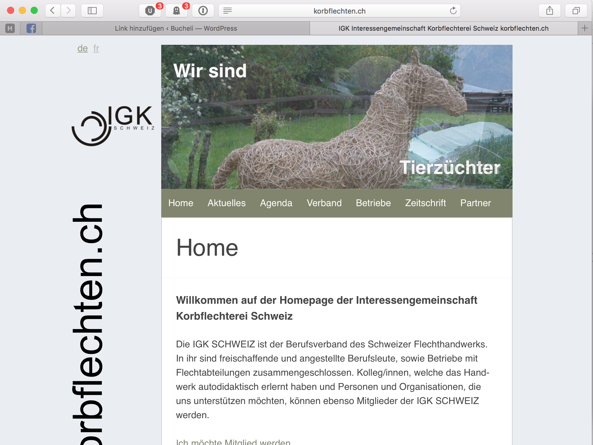 IGK Schweiz Wordpress-Theme, Screendesign, Responsive-Design