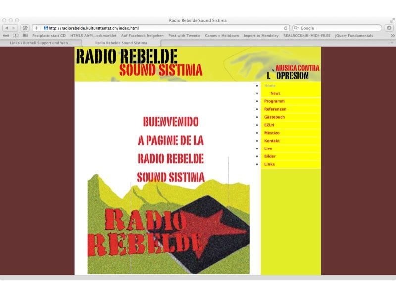 Radiorebelde Sound Sistima Prorammierung, Rapidweaver-Theme