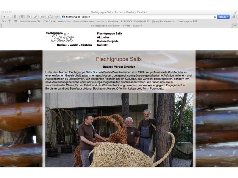 Flechtgruppe Salix: Bucheli – Verdet – Zwahlen Konzept, Screendesign, Programmierung, Wordpress
